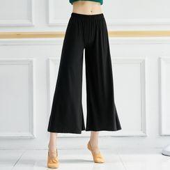Winkplay - Cropped Wide-Leg Dance Pants