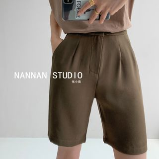 Shira - High-Waist Straight-Cut Dress Shorts