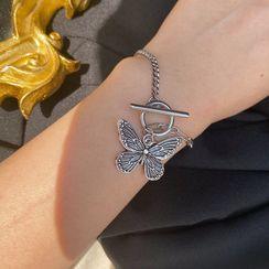 YASIN - Alloy Butterfly Bracelet / Necklace / Set