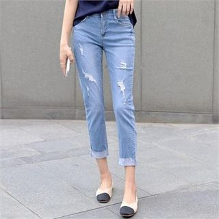 PIPPIN - Distressed Cropped Jeans