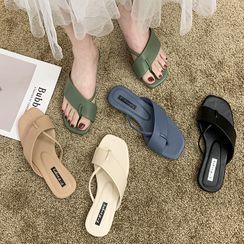 Yuki Yoru - Toe-Loop Slide Sandals