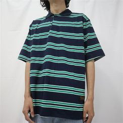 Blackcola - 短袖條紋馬球衫