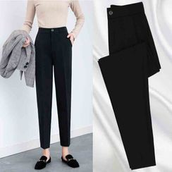 ERNICE - High-Waist Tapered Cropped Dress Pants