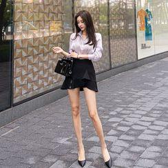 Babi n Pumkin - Inset Shorts Ruffle-Hem Skirt