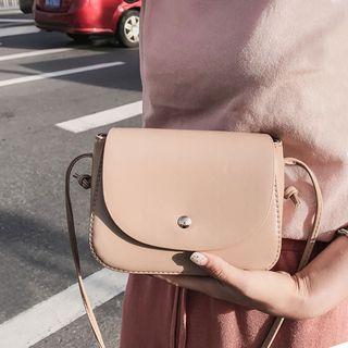 Clair Fashion - Faux-Leather Crossbody Bag