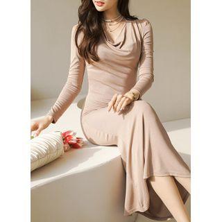Styleonme(スタイルオンミー) - Draped Bodycon Maxi Mermaid Dress