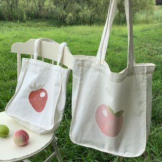 Ms Bean - Printed Canvas Tote Bag