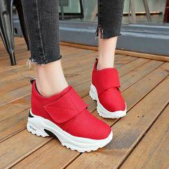 Chunki - 厚底魔术贴休閒鞋
