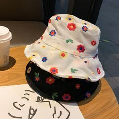 Cap Station - Embroidered Flower Bucket Hat