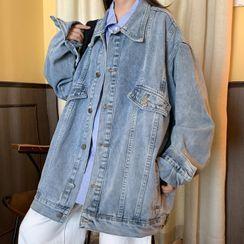 Dute - Oversize Denim Button Jacket