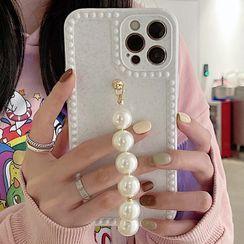 Merito - Faux Pearl Chain Phone Case - iPhone 12 Pro Max / 12 Pro / 12 / 12 Mini / 11 Pro Max / 11 Pro / 11 / Xs Max / Xr / Xs / X / 8 Plus / 8 / 7 Plus / 7