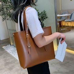 Velocia - Faux-Leather Tote Bag