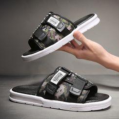 BELLOCK - Platform Lettering Slide Sandals