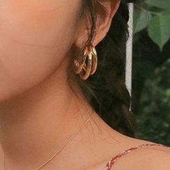 DREN - Alloy Layered Hoop Earrings