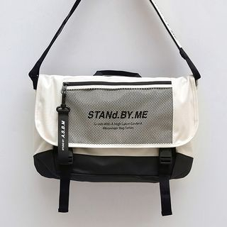 icecream12 - 'STAND BY ME' Mesh-Panel Buckled Cross Bag