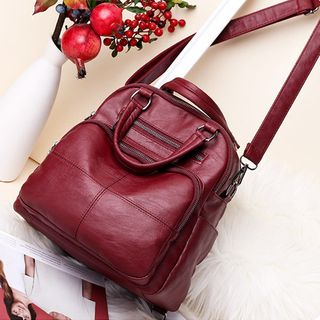 Denyard - Convertible Faux Leather Backpack