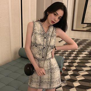 SIXONE - Pattern Vest / Mini Skirt / Shorts