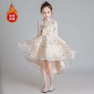 Doveark - Kids Long-Sleeve Mesh Qipao