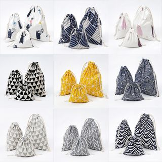 Eastin(イースティン) - Printed Cotton And Linen Drawstring Pouch