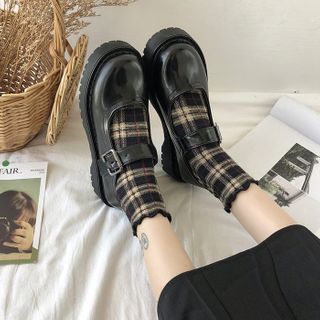 Bolitin - 圆头厚底玛莉珍鞋