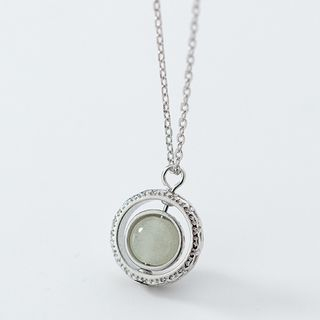 A'ROCH(エーロック) - 925 Sterling Silver Turnable Stone Pendant Necklace
