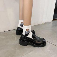 miss baby - 粗跟便士樂福鞋