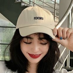Lots2luv - Letter Embroidered Baseball Cap