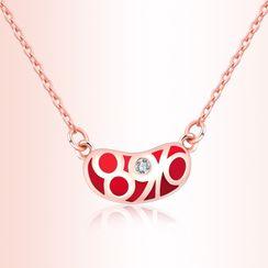 Midnite Dream - Rhinestone Numerical Pendant Necklace