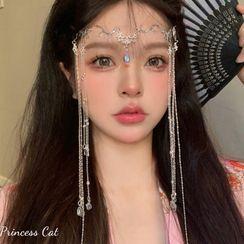 Princess Cat - 水滴水钻流苏头饰