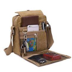 Golden Kelly - Canvas Shoulder Bag