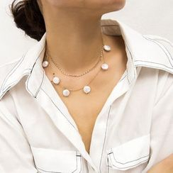 Seirios - Faux Pearl Layered Necklace