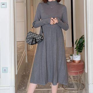 Tamrone - Maternity Long-Sleeve Knit A-Line Dress