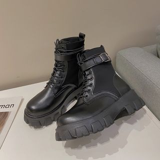 Hipsole - Platform Block Heel Short Boots