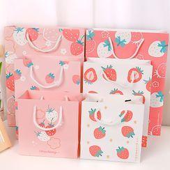 Hekki - Strawberry Print Paper Gift Bag