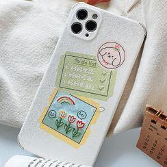 TinyGal - 刺绣卡通手机保护壳 - iPhone 11 Pro Max / 11 Pro / 11 / SE / XS Max / XS / XR / X / SE 2 / 8 / 8 Plus / 7 / 7 Plus