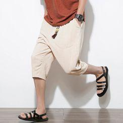 Andrei(アンドレイ) - Drawstring-Waist Straight-Cut Capri Pants