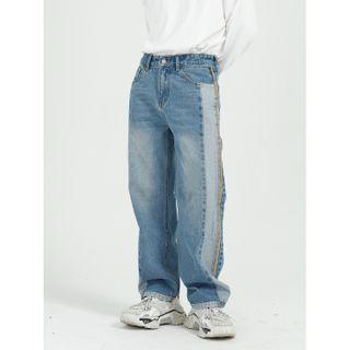 FAERIS - Panel Wide-Leg Jeans
