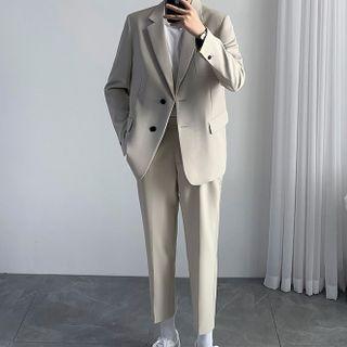 Deepwood - Set: Single Breasted Blazer + Dress Pants