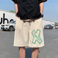 Lazi Boi - Cross Print Shorts