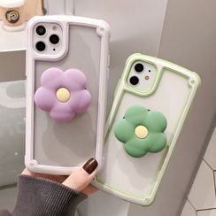 TinyGal - Flower Stand Phone Case - iPhone 11 Pro Max / 11 Pro / 11 / XS Max / XS / XR / X / 8 / 8 Plus / 7 / 7 Plus / 6s / 6s Plus