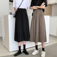 CosmoCorner - 纯色中长半身裙