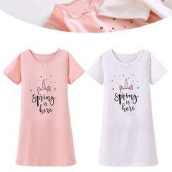 Cuckoo - Kids Printed Short-Sleeve T-Shirt Dress