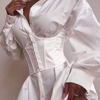 Shavita - Underbust Lace- Up Corset Belt