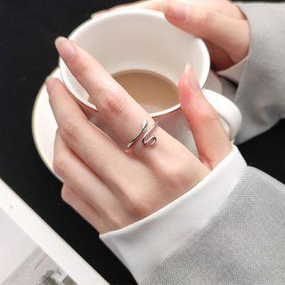 Hansha - Snake Sterling Silver Open Ring