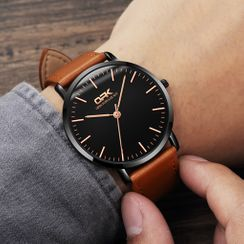 Tenri - Faux-Leather Strap Watch