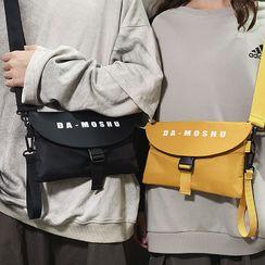 SUNMAN - Lettering Nylon Crossbody Bag