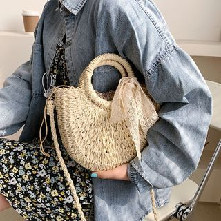 FAYLE - Top Handle Woven Crossbody Bag