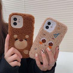 Miumi - Chenille Animal Phone Case - iPhone 12 Pro Max / 12 Pro / 12 / 12 mini / 11 Pro Max / 11 Pro / 11 / SE / XS Max / XS / XR / X / SE 2 / 8 / 8 Plus / 7 / 7 Plus