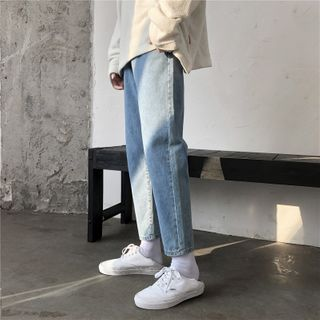YERGO - Crop Straight Fit Jeans