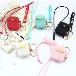 Edgin - 菱格手袋Airpods耳機耳機保護套